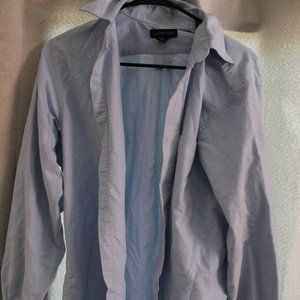 Lands End Light Blue Mens Dress Shirt